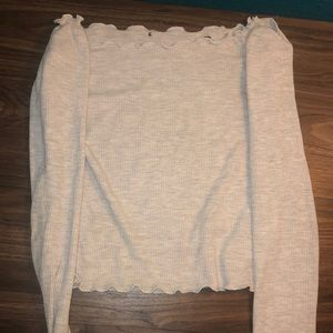 Long sleeve, grey Brandy Melville top